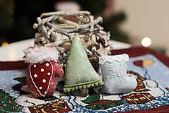 Dekorácie - Sada 6 vianočných dekorácií - 11257659_