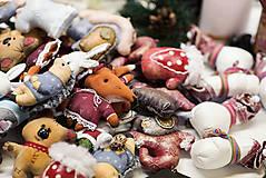 Dekorácie - Sada 6 vianočných dekorácií - 11257660_