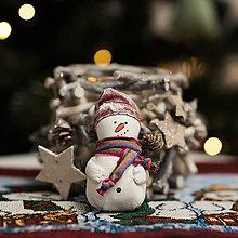 """Dekorácie - Vianočná dekorácia """"Snehuliak"""" - 11257597_"""
