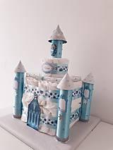 Detské doplnky - Plienková torta ĽADOVÝ ZÁMOK - 11254973_