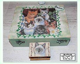 """Krabičky - Sperkovnica """"Mačičky"""" :) - 11255883_"""