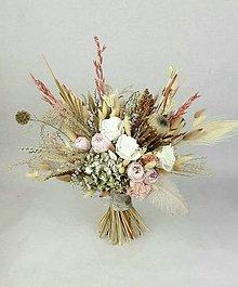 Kytice pre nevestu - Boho kytica zo stabilizovanych kvetov - 11255330_