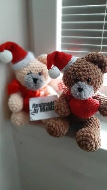 Hračky - Vianočný parovy mackovia - 11255424_