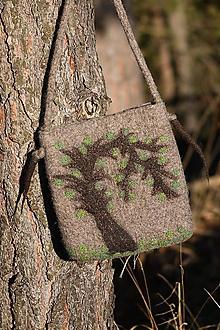 Kabelky - plstená kabelka - strom - 11257019_