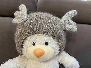 Detské čiapky - Čiapočka na fotenie sobík - 11257236_