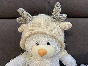 Detské čiapky - Čiapočka na fotenie jelenček - 11257273_