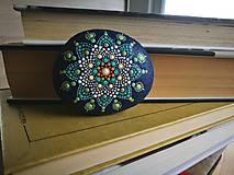 """Dekorácie - Maľovaný kameň mandala """"Kvet"""" - 11255404_"""