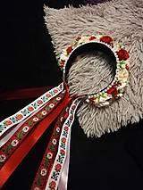 Ozdoby do vlasov - Ľudová kvetinová parta - 11258060_