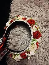 Ozdoby do vlasov - Ľudová kvetinová parta - 11258062_