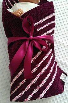 Textil - Háčkovaná deka pre deti - 11257671_