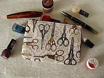 Taštičky - Taštička na mobil - Starobylé nůžky - 11256655_