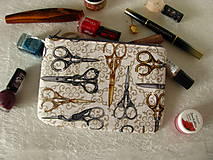 Taštičky - Taštička na mobil - Starobylé nůžky - 11256656_