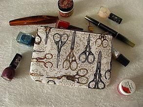 Taštičky - Taštička na mobil - Starobylé nůžky - sleva ze 6ti eur - 11256655_
