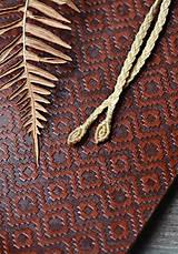 Náhrdelníky - Náhrdelník choker/čelenka koralová fosília •Nevesta hôr• - 11256640_