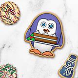 Dekorácie - Tučniačik - ozdoba na koláčik - 11256025_