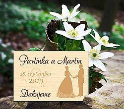 Darčeky pre svadobčanov - Svadobná magnetka - 11261172_