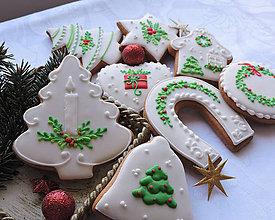 Dekorácie - Medovníčky vianočné 8 ks - 11259937_