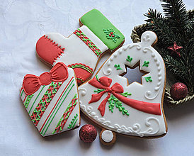 Dekorácie - Medovníčky vianočné veľké 3 ks - 11259971_