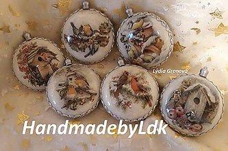 Dekorácie - Medailóny s vtáčikmi - 11259604_