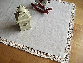 Úžitkový textil - *** Biely ľanový obrus Exkluzív *** (Obdĺžnik  95 cm x 41 cm) - 11261026_