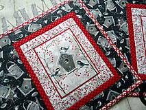 Úžitkový textil - Zimné vtáčiky... prestieranie 2 ks - 11259641_