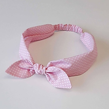 Ozdoby do vlasov - čelenka pin-up pastelová ružová - 11262963_