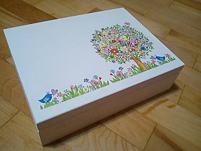 Krabičky - rozkvitnutý strom šperkovnica - 11262073_