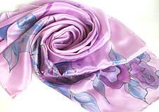 Šatky - Violet. Krepdešínový šátek. - 11260228_