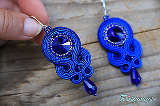 Náušnice - Simple teardrop...soutache (Just blue) - 11261231_