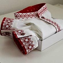 Oblečenie - Bielo cervena krizikova vysivka - 11261725_