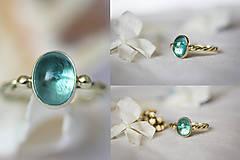 Prstene - Zlatý filigránový prsteň - Splynutie (Apatit) - 11260256_