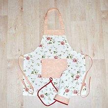 Úžitkový textil - zástěra + chňapka rukavice + malá chňapka - 11262000_