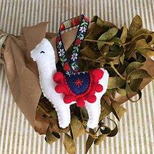 Dekorácie - Vianočná ozdoba Lama - 11259965_