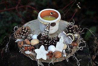Dekorácie - Vianočný svietnik - 11260734_