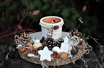 Dekorácie - Vianočný svietnik - 11260745_