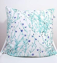 Úžitkový textil - FLORAL akvarelová obliečka - Nevädza - 11262572_