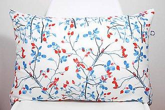Úžitkový textil - FLORAL akvarelová obliečka - Šípky II. - 11262620_