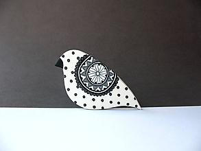Odznaky/Brošne - ,,Bodkované vtáča,, - 11261730_
