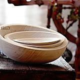 Nádoby - Set drevených lipových mís natural - 11261345_