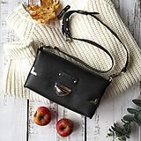 Kabelky - Kožená kabelka MidiMe (čierna matt) - 11259800_