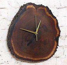 """Hodiny - Drevené nástenné hodiny slivkové """"eRky""""  115 - 11262660_"""