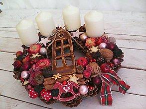 Dekorácie - Adventný veniec ...doma na vianoce... - 11260524_