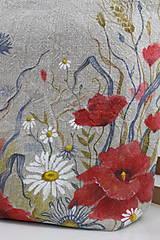 """Kabelky - Veľká ručne maľovaná kabelka z ľanového plátna """"Na lúke"""" - 11262348_"""
