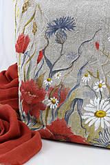 """Kabelky - Veľká ručne maľovaná kabelka z ľanového plátna """"Na lúke"""" - 11262465_"""