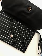 Kabelky - čierno-biela listová kabelka Retro - 11262380_