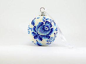 Dekorácie - Vianočná guľa Ruža - 11262601_