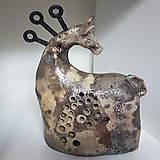 Socha - Keramický kůň, Raku - 11260423_