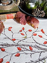 Úžitkový textil - Štóla šípky - ručne maľovaná - 11259108_