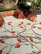Úžitkový textil - Štóla šípky - ručne maľovaná - 11259126_