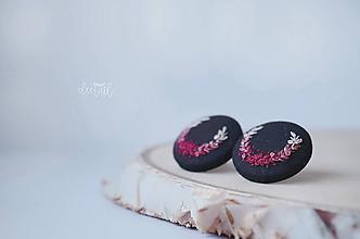 Náušnice - Tieňované polvenčeky ružové - veľké - 11261066_